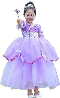 OBEEII Little Big Girl Bella Costume Princess Off Shoulder Tutu Dress Halloween