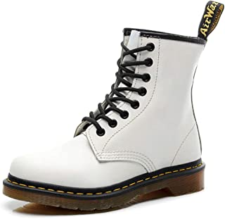 Dr. Martin Unisex Boots Hiking Lace Up Ankle Boots doc martens womens Casual high-top Unisex Adults' Boots Round Locomotive Shoes Smooth Combat Boot Dr. Martin Safety Steel Boots