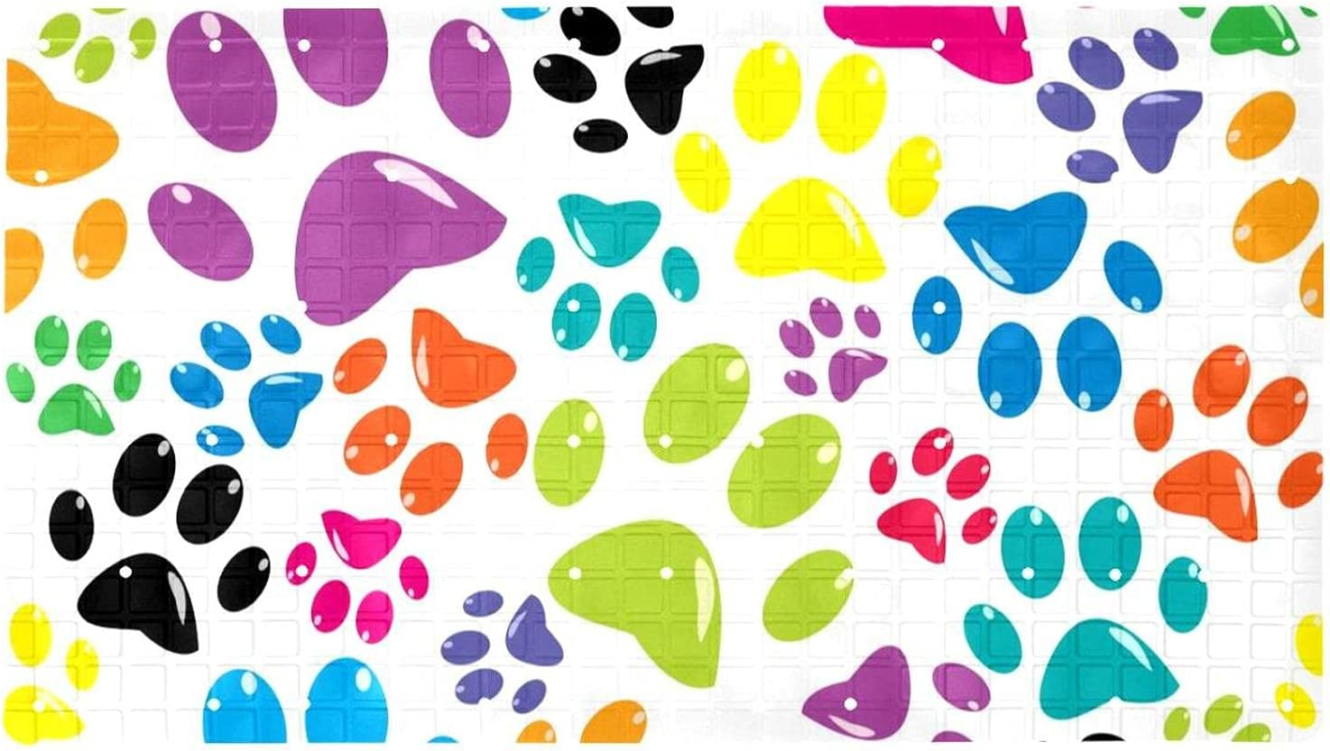 Bath Tub Shower Mat 15.7x27.9 inches Bombing new work Colored Paws P Pattern with Max 73% OFF