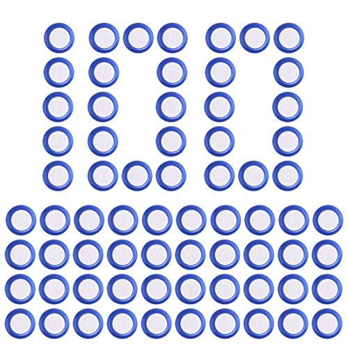 Foxom Disc Pfeiles, 100Stück Disc Nachfüllpack Pfeiles für Nerf Vortex Praxis Nitron Vigilon Proton Revonix Pyragon Lumitron Diatron Blasters, Spielzeugblasterzubehör (Blau)
