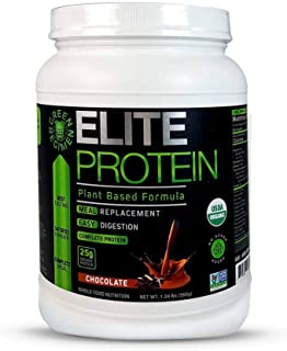 Sponsored Ad - Elite Protein - Organic Plant Based Protein Powder, Chocolate, 25 Grams of Pea and Hemp Protein - 14 Servin...
