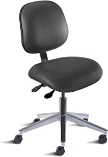BioFit Engineered Products EEA-L-RC-AV126 Elite Series Desk Height Chair with Aluminum Base and Vinyl Upholstery, Black