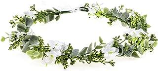 Vividsun Bridal Green Leaf Crown Bohemian Headpiece Floral Headband Photo Prop