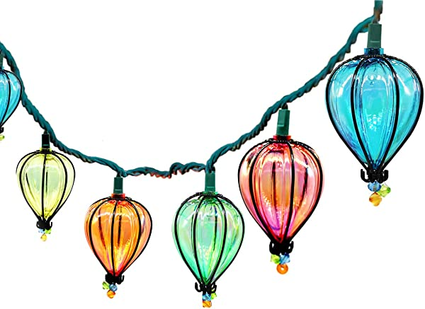YIGUO 11FT String Lights With 10 Color Bulbs UL Listed Backyard Patio Lights Hanging Indoor Outdoor For Tents Patio Garden Gazebo Market Cafe Party Decor