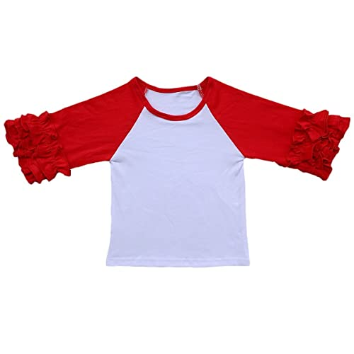 Custom Go Ahead Card Me Cotton Girl Toddler Long Sleeve Ruffle Shirt Top