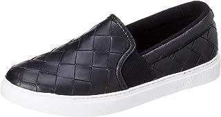 حذاء سهل الارتداء جلد صناعي منقوش بنعل مختلف اللون للنساء من كلوب الدو