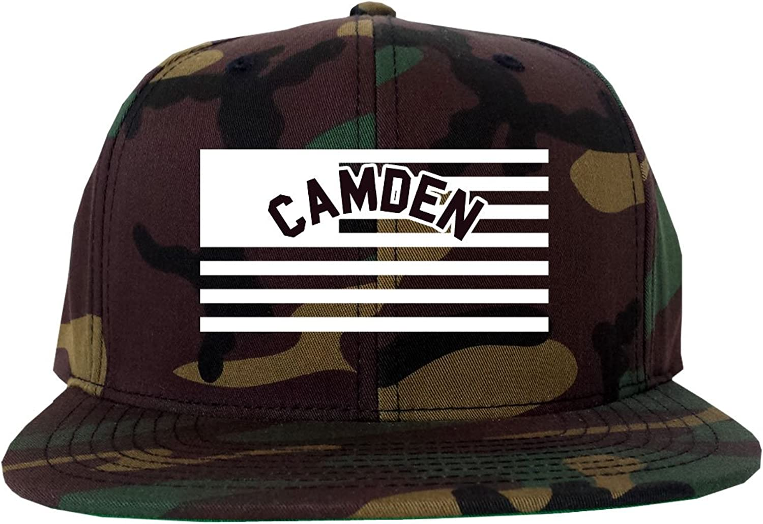 - - - City Of Camden with United States Flag Snapback Hat Cap Army Camo d3276f