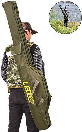 Heitaisi Fishing Rod Case Portable Folding Fishing Rod Case Fishing Pole Reel Storage Bag Fishing Gears Organizer