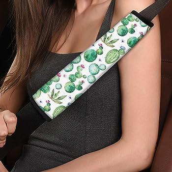 Showudesigns Tie Dye Car Seat Belt Cover Rainbow Soft Comfort Shoulder Seatbelt Pads Cover Adult Women Protector Universal Seat Belt Cushion 2 Packs