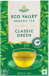 Eco Valley Organic Green Tea - Classic Green, 30 Tea Bags