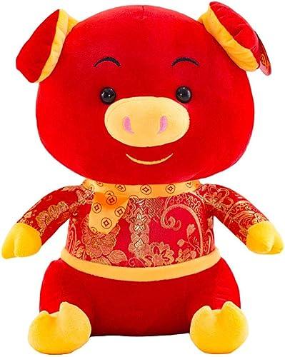GJC Ferkel Doll Pillow Mascot Tang Suit Pig Toy Down Cotton Padded Soft Home Decoration Company Jahrestreffung Geschenk,60CM
