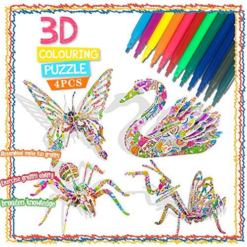 Juguetes Regalos para Niñas de 5 6 7 8 9 10 Años, Rompecabezas para Colorear en 3D para Niñas de 5 a 11 Años Niños niñas Regalos de Cumpleaños Regalos de 6 a 12 Años Juegos de Manualidades para Niñas
