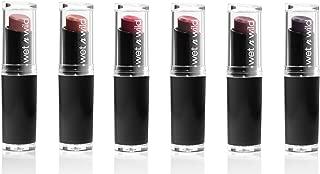 Wet n Wild MegaLast Lip Color Assorted Bundle - Bare It All (902C), Sand Storm (913C), Wine Room (906D), Cinnamon Spice (917B), Mocha-licious (914C), and Vamp It Up (919B)