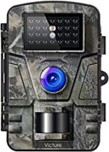 Victure Trail Game Camera with Night Vision Motion Activated 1080P 12MP Hunting Cameras with Low Glow and Upgraded Waterproof IP66 for Outdoor Wildlife Watching