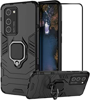 2ndSpring Case for Huawei P40 Pro with Tempered Glass Screen Protector,Hybrid Heavy Duty Protection Shockproof Defender Ki...