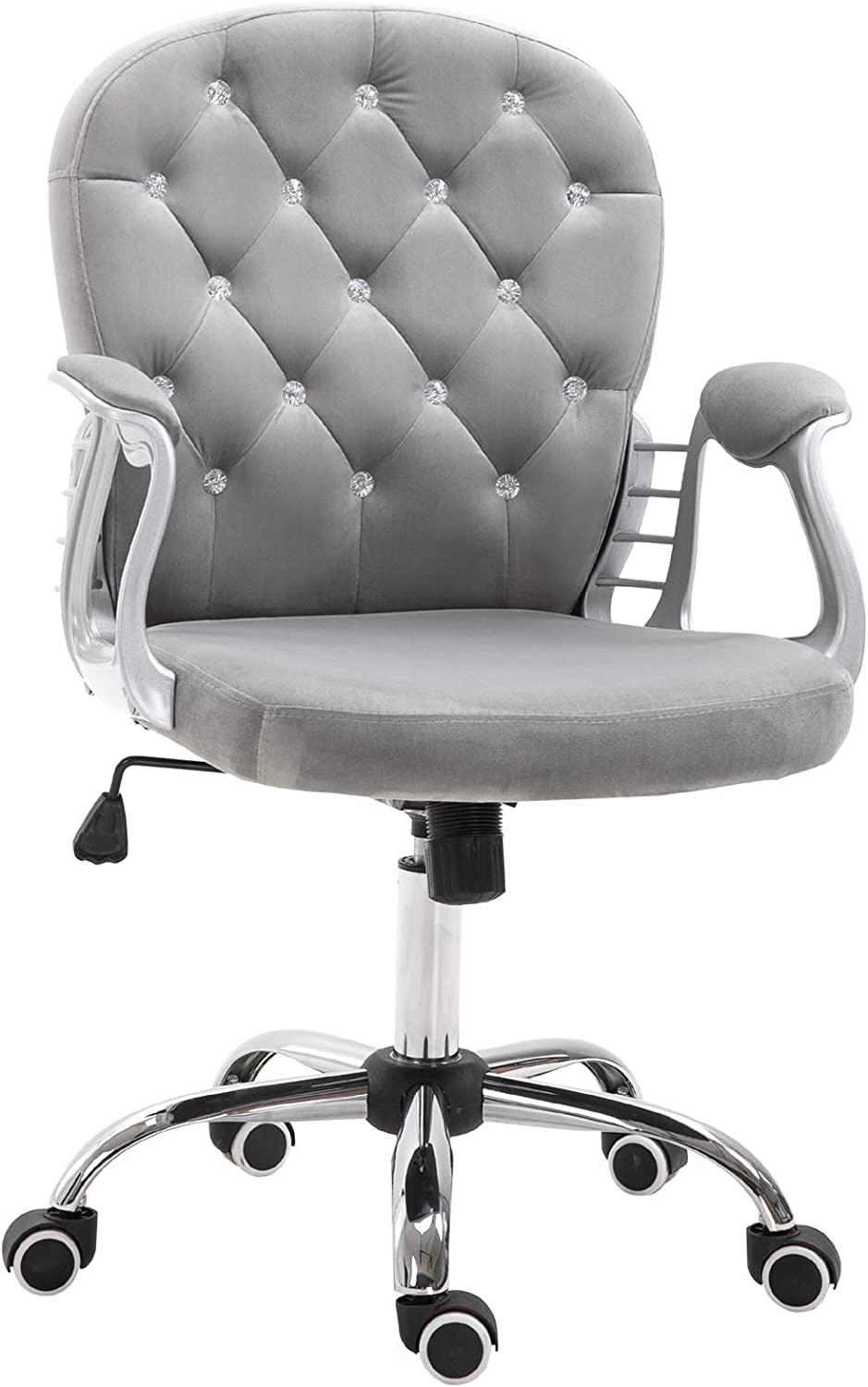 Vinsetto Quality inspection Vanity Middle Back Office Tufted Sale item Chair Swivel Backrest