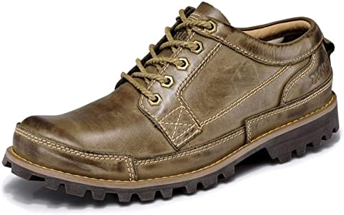 Chaussures décontractées pour hommes, chaussures chaussures rétro, chaussures en cuir, chaussures britanniques, semelles en caoutchouc, pare-chocs pour les orteils - randonnée, utilisation quotidienne,A-40  les clients d'abord