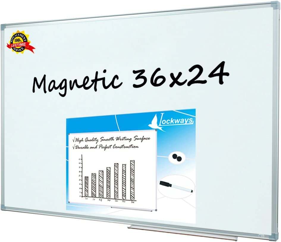 Lockways Magnetic online shop Dry Erase At the price Board Bo - Whiteboard White