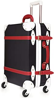 urecity ジッパートランクケース キャリーバッグ 機内持込可 手作り レトロ おしゃれ かわいい 大型 超軽量 S M L XL サイズ TSAロック 修学旅行用