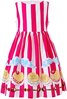fda38848029 SMILING PINKER Little Girls Dress Butterfly Swing Party Summer Cotton Dresses  for Baby Toddler