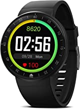 Smart Watch with 9 sport mode, IP68 Waterproof Bluetooth fitness Tracker with Heart Rate Sleep Monitor, GPS Running Mode Activity Tracker, Touch Screen Pedometer for Women Men Android & iPhone