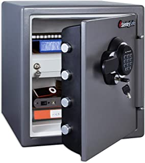 SentrySafe Fireproof Safe and Waterproof Safe with Dial Combination, SFW123GDC