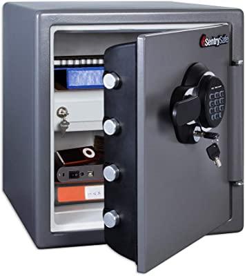 SentrySafe SFW123GDC Fireproof Waterproof Safe with Digital Keypad, 1.23 Cubic Feet, Gun Metal Gray