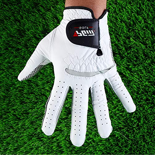 Tuzi Qiuge Golf-Handschuhe Herren, Herren-Golf-Handschuhe Linke Hand, Linke Hand Anti-Rutsch-Teilchen, Größe: 24# QiuGe