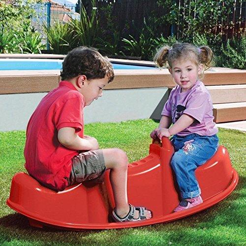 1a-Handelsagentur Balancín Niños Trio Balancín Juego Infantil Jardín Juego Balancín Plástico, Color:Rojo: Amazon.es: Jardín