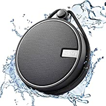 INSMY IPX7 Waterproof Shower Bluetooth Speaker, Portable Wireless Outdoor Speaker with Loud HD Sound, 12H Playtime, Support TF Card, Built-in Mic, Suction Cup for Shower, Boating, Hiking, Kayaking