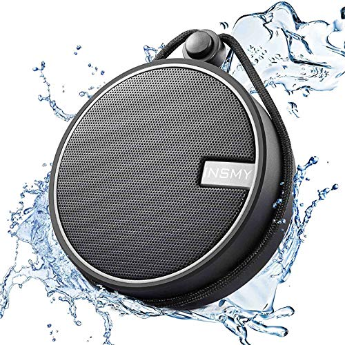 INSMY IPX7 Waterproof Shower Bluetooth Speaker, Portable Wireless Outdoor Speaker with HD Sound,...