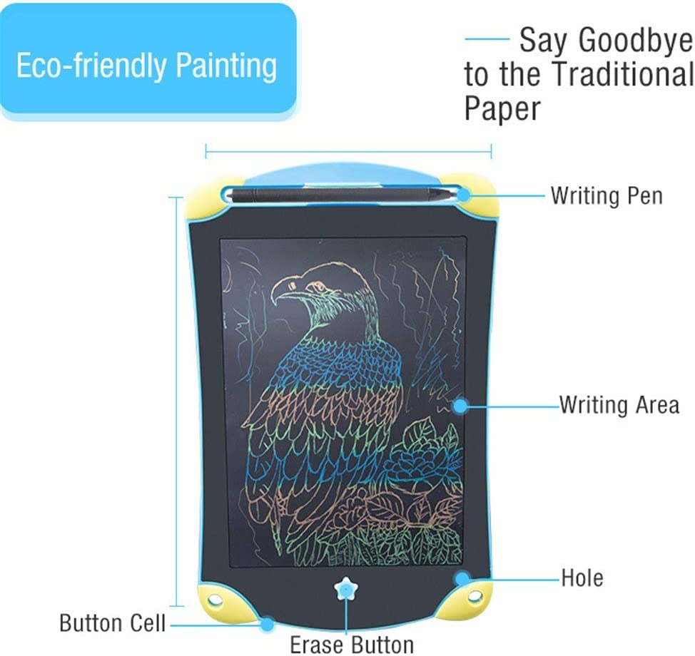 Color : Picture Color, Size : 8.5 inches GEQWE LCD Writing Tablet LCD Writing Board 8.5 Inches Colorful Doodle Board LCD Screen Writing Tablet Magnetic Drawing Board Writing Board Doodle
