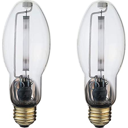 LU70/MED | High Pressure Sodium HID Light Bulb | 70W E26 Base ED17 ANSI Code S62 | High Output HID Light | 2000K Warm White & Clear Finish | 24000 Life Hours | 2 Pack by GoodBulb