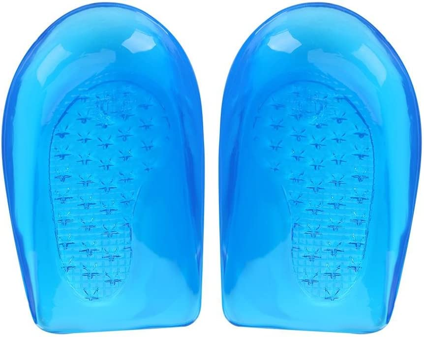 Gel de silicona O/X Plantillas para la corrección de la pierna Pie Ortopédico Soportes para el arco Inserción Almohadillas Heel Cup Soporte amortiguador(S 9.2cm/3.62inch 6.5cm/2.56inch)