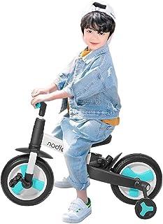 [ZOOBLY]キックバイク 高さ調整 バランスバイク 折り畳み へんしんバイク 持ち運びやすい ペダルなし自転車 子供 三輪車 軽量 2歳 プレゼント キッズバイク【一年保証】