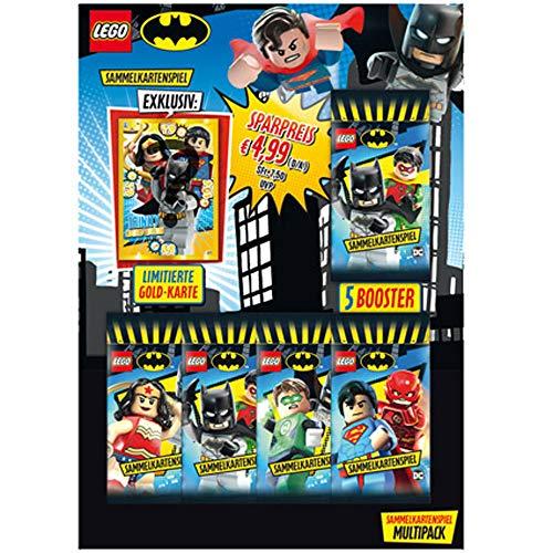 LEGO 180507 - Cartas coleccionables de Batman, 5 Sobres y Tarjeta Dorada Limitada, Multicolor