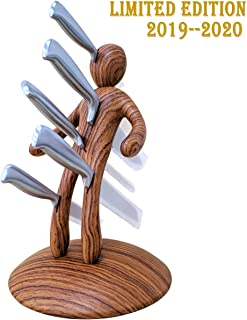 Kitchen Knife Block Set, Premium 5-Piece Novelty Stainless Steel Knife Block Set with Unique Holder Premium Stabbing Stainless Steel Knife Set, Men are jerks -Pack of 5