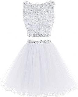 Women's Prom Dress Short For Juniors Party Dress 2 Piece Tulle D127