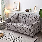 WXQY Fundas de sofá elásticas geométricas Fundas de sofá elásticas para Sala de Estar Protector de Muebles sofá Toalla Funda de sofá A20 2 plazas