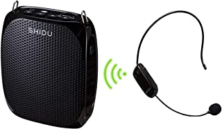 Wireless Voice Amplifier 10W 1800mAh Portable Mini PA Speaker with UHF Wireless Headset Microphone Hands-Free Rechargeable Classroom Microphone for Teachers Tour Guides and Presentations
