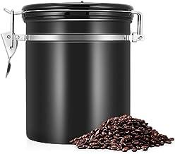 1.5L Koffiecontainer Luchtdichte Roestvrijstalen Koffiebonencontainer Voedselopslagbus Bewaar Vers Voedsel Perfect Voor Ko...