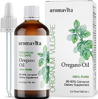 Sponsored Ad - Aromavita Essential Oil of Oregano - 100% Pure Undiluted, Non GMO, Extra Strength Greek Oregano Oil - Over ...