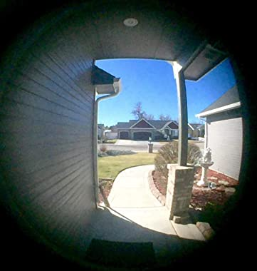Sumnacon Anti-Prying Brass 220-degree Door Viewer - Solid Door Peephole Viewer with Heavy Duty Rotating Privacy Cover for 1.2