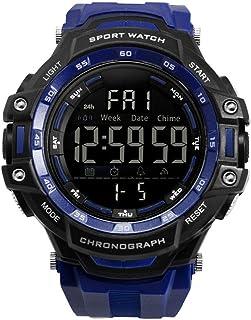 Outdoor Sports Waterproof Digital Single Display Luminous Multi-Functional Electronic Watch Mens Watch for