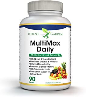 MultiMax Daily Multivitamin for Women and Men - Best Whole Food Based Natural Multivitamins Supplement - 21 Vitamins and M...