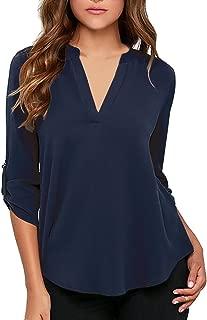 navy blue chiffon blouse