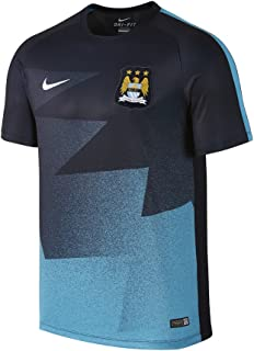 NIKE 2015/16 Mens Manchester City FC Pre-Match Training Soccer Short-Sleeve Shirt [Dark Obsidian]