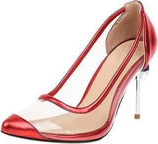 Lizzhen Femmes Mode Aiguille Escarpins Transparent Fête Chaussures Strass Talons Hauts Escarpins A Enfiler