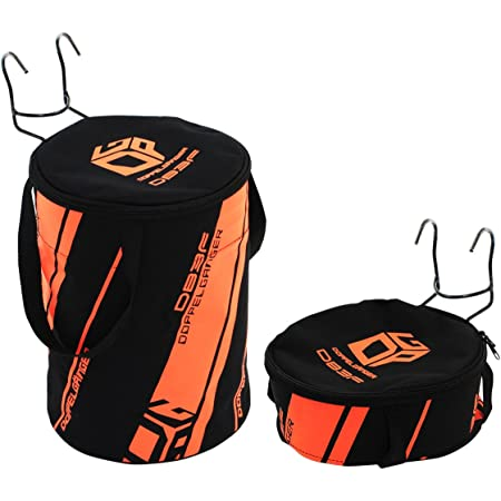 DOPPELGANGER フロントバッグ 2WAYドラムバッグ 折りたたみ収納可能 軽量400g [折りたたみ自転車取付用フック付属] DB3F