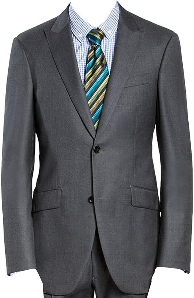 HBDesign Mens 1 Piece 2 Button Peak Fit Formal Sale item T Lapel Max 78% OFF Trim Slim